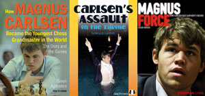 Magnus Carlsen books. Photo ©