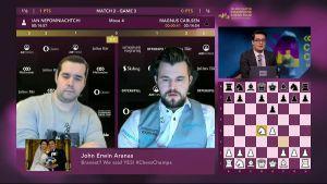 Nepomniachtchi eventually managed to get past Carlsen in a blitz tie-break. Photo ©